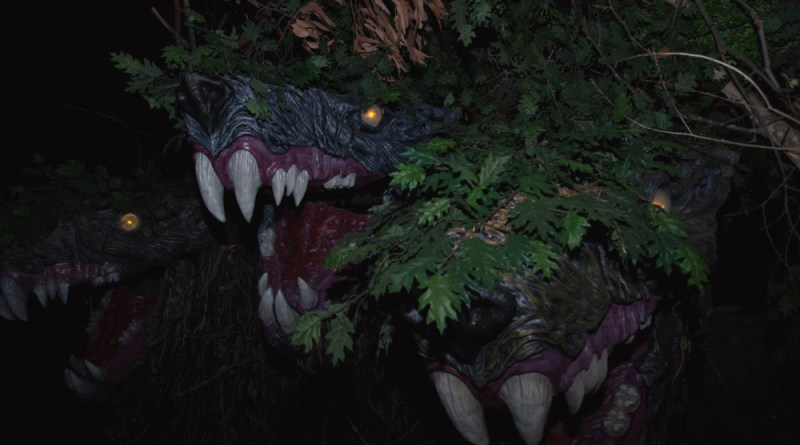 Los Angeles Haunted Hayride 2014: Cerberus 3 heads by Storm Santos