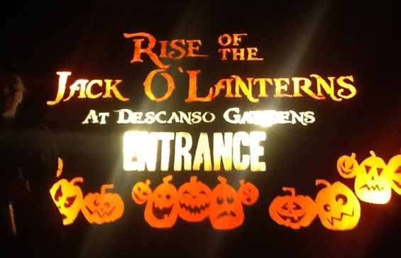 Rise of the Jack O'Lanterns 2014: Entrance