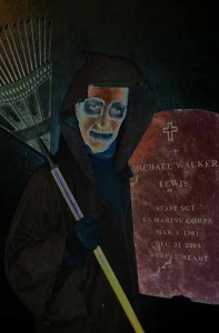 Gravedigger's titular character. Photo courtesy of Zombie Joe's Underground Theatre