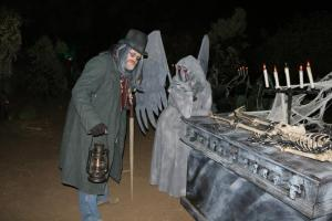 Nightmare in Whiting Woods cemetery keeper and angel