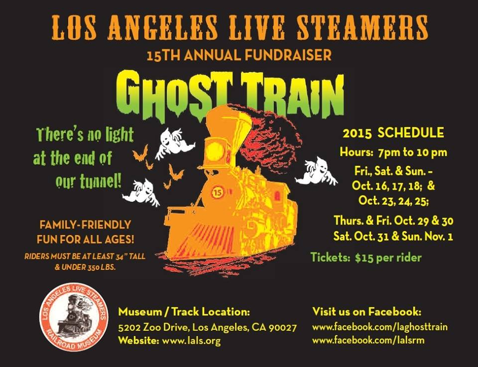 Ghost Train returning to Griffith Park for Halloween 2015