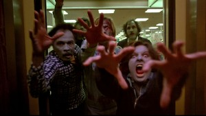 Dawn of the Dead zombies in elevator