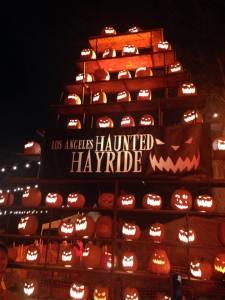Los Angeles Haunted Hayride 2015 Stack of Jack O'Lanterns