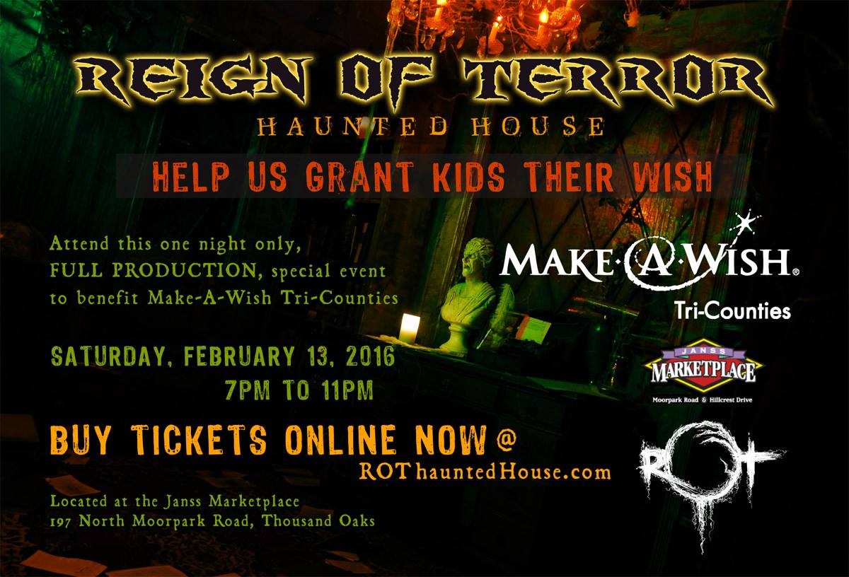 Reign of Terror Make-a-Wish Special Event