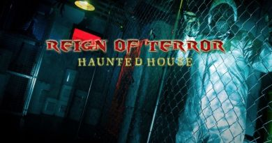 Reign of Terrro haunted house-gas-mask