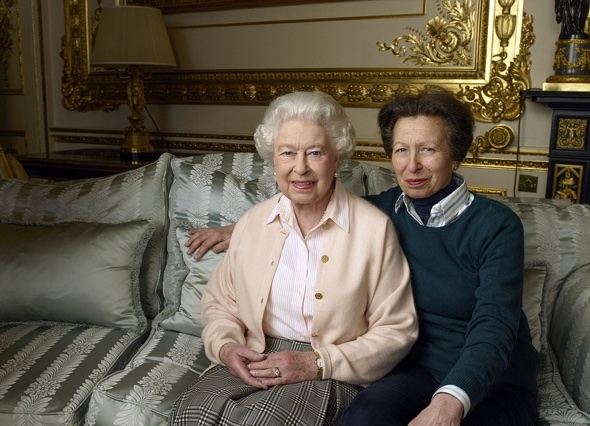 Annie Leibovitz' favorite photo? The Queen with her only daughter, the Princess Royal (Princess Anne)