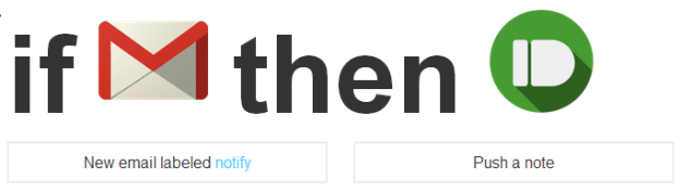 IFTTT recipe with Pushbullet