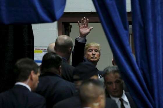 Image of Trump salute