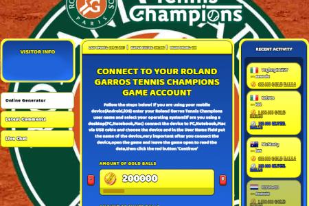 roland garros tennis champions cheat hack online generator gold balls and silver balls unlimited
