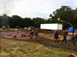 Warrior Dash finish line