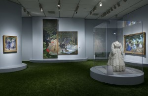 "Installation shot of ""Impressionism, Fashion, and Modernity"" at the Art Institute of Chicago"