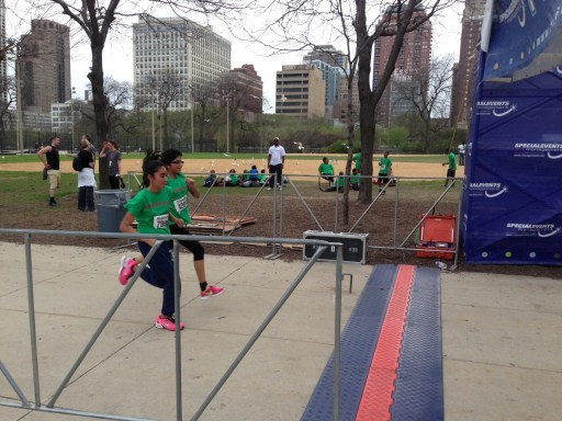 Students cross the finish line at the 5K March to College/Photo: Zach Freeman