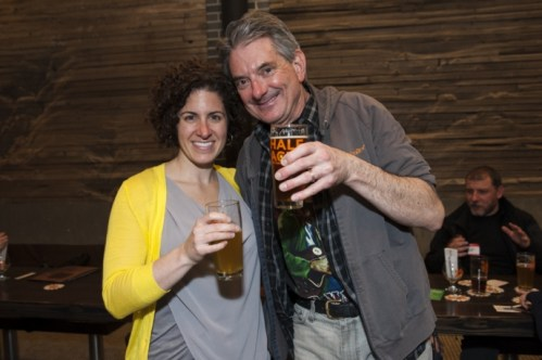 Dan Brown with Chainlink founder Leah Neaderthal. Photo: Steven E. Grossman