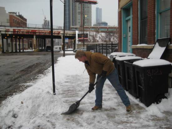"""Every Day I'm Shoveling"" Photo: Active Trans"