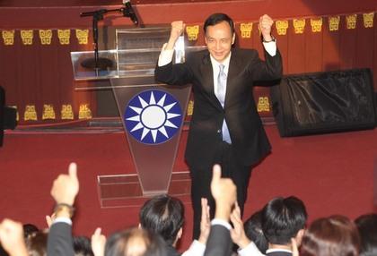 國民黨臨時中全會決議朱立倫參選2016總統大選。 圖片來源:蘋果日報