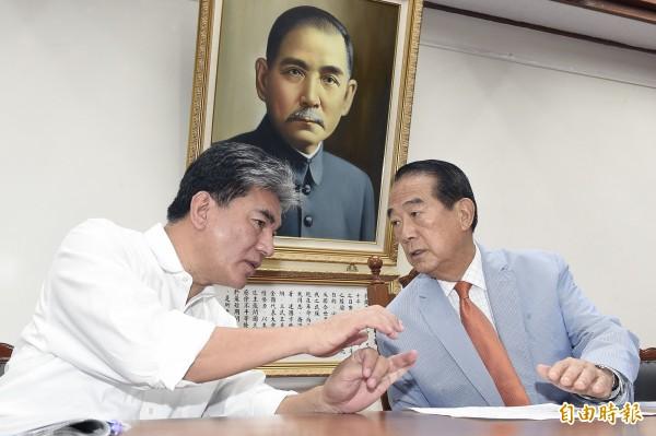 宋楚瑜選在921發表防災政策。 圖片來源:自由時報