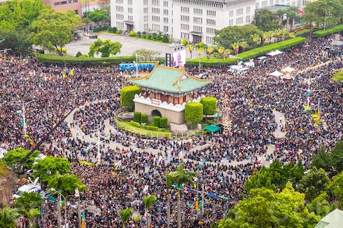 台灣的社會運動隨著民眾的投入也持續進化。 圖片來源:MoneyDJ理財網