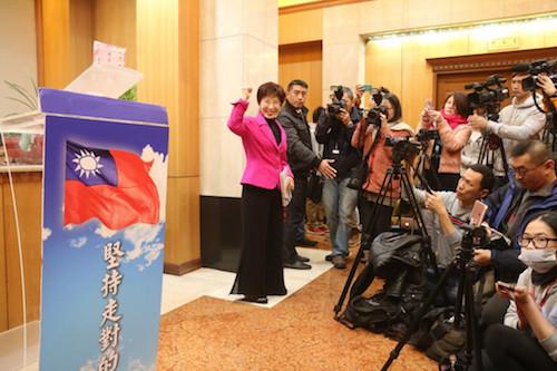 洪秀柱對於國民黨黨產也不甚了解。 圖片來源:民報