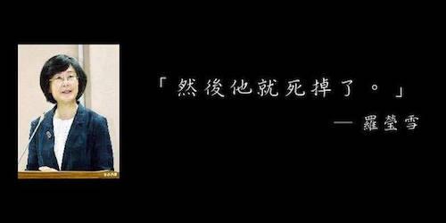 法務部長羅瑩雪在立院被質詢肯亞事件,語出驚人。 圖片來源:蘋果日報