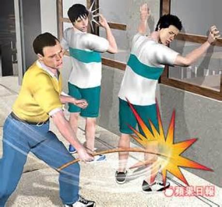 體罰仍是校園裡頭在發生的暴力情境。 圖片來源:蘋果日報