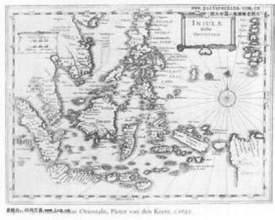 古代的手繪南海地圖。 圖片來源:同遊網
