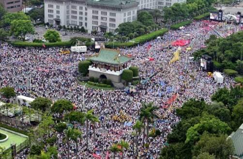 九三軍公教大遊行。 圖片來源:中時電子報