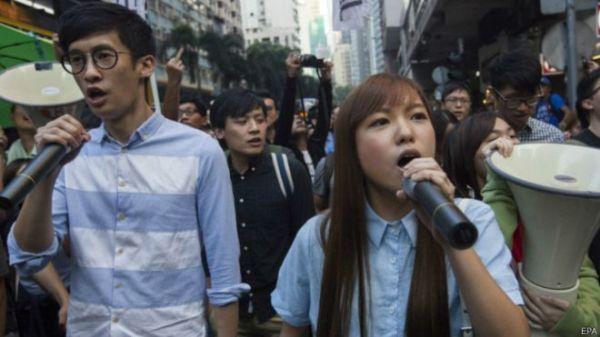 梁頌恆、游慧禛因為宣誓儀式問題,遭中共人大剝奪立法會議員資格。 圖片來源:BBC