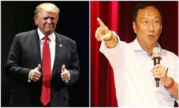 郭台銘在川普當選後,傳出想選2020年總統。 圖片來源:華視新聞