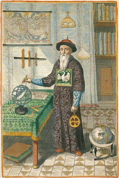 神聖羅馬帝國傳教士在清朝編修《時憲曆》。 圖片來源:WTFM