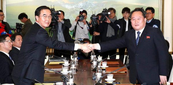南韓與朝鮮開啟和平對談。 圖片來源:台灣英文新聞