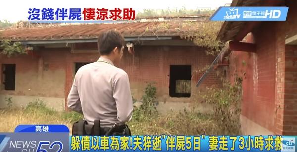 潦倒夫妻遭遇悽慘。 圖片來源:東森新聞