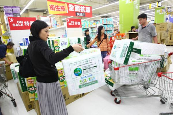 衛生紙漲價反應對通膨的預期心理。 圖片來源:蘋果日報