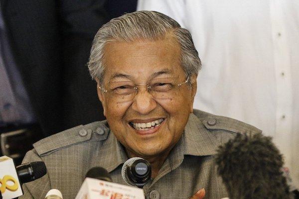 馬來西亞新任總理馬哈迪。 圖片來源:聯合報