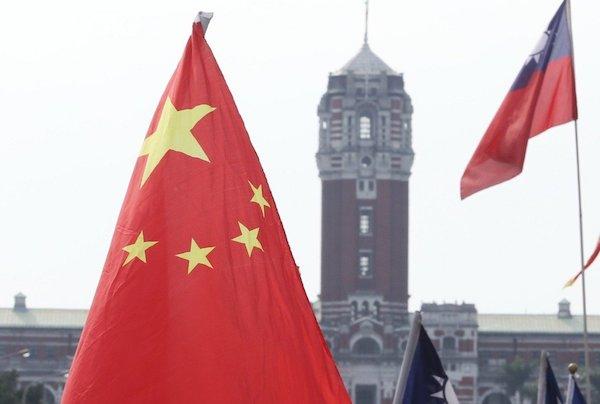 中國五星旗早已入侵台灣。 圖片來源:聯合新聞網
