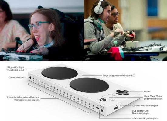 微軟推出Xbox Adaptive Controller嘉惠肢障玩家。 圖片來源:作者提供