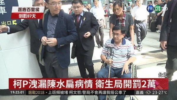 柯文哲當初洩露陳水扁病情有違醫學倫理。 圖片來源:華視