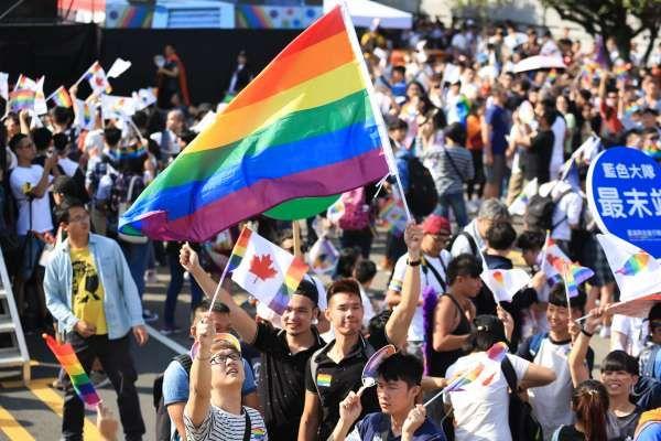 同志大遊行估計有13萬人上凱道。 圖片來源:雅虎奇摩
