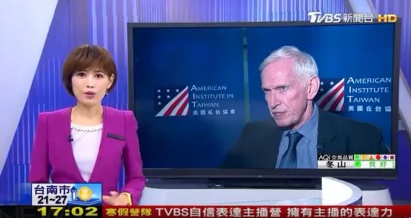 TVBS訪問AIT莫健的新聞影片,TVBS卻自行下架。 圖片來源:自由時報