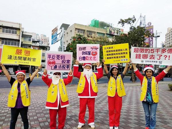2018聖誕節聖誕老人上街頭。 圖片來源:作者提供