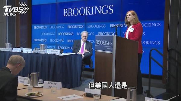 TVBS播出疑似假新聞影射美國智庫。 圖片來源:TVBS