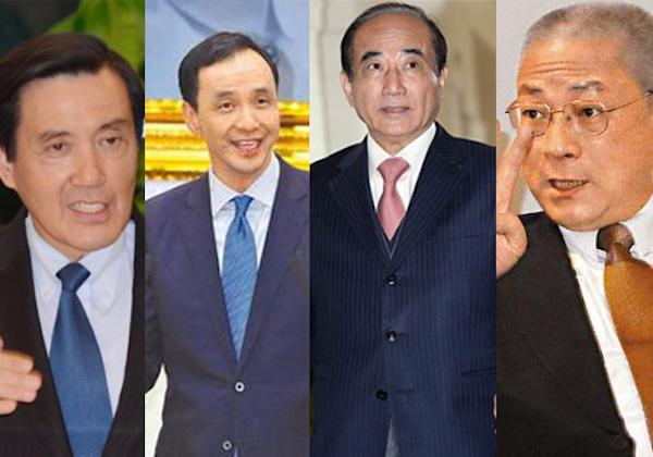 國民黨四大天王都說要跟中國簽和平協議。 圖片來源:大公資訊