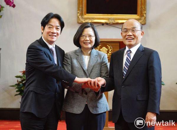 賴清德與蘇貞昌都是蔡英文的行政院長。 圖片來源:新頭殼