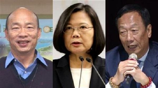 郭台銘與韓國瑜都把蔡英文當作假想敵。 圖片來源:三立新聞