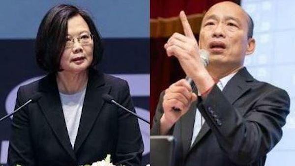 韓國瑜太監說遭蔡英文回嗆。 圖片來源:三立新聞