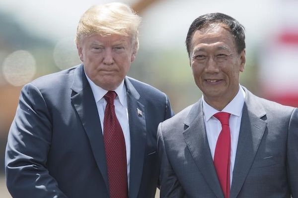 Gou and Trump. Image source: Yahoo News