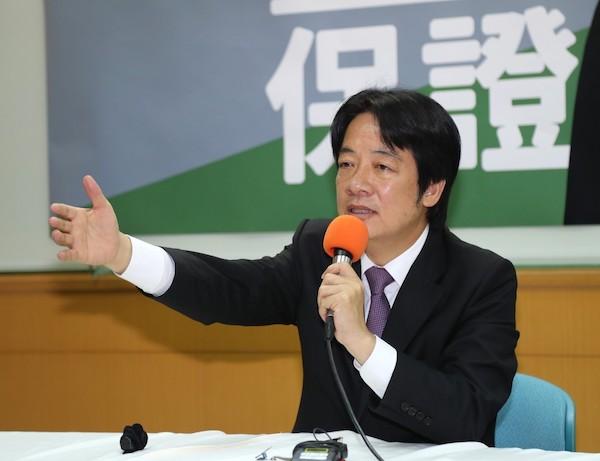 只有賴清德可以守護台灣? 圖片來源:台灣英文新聞