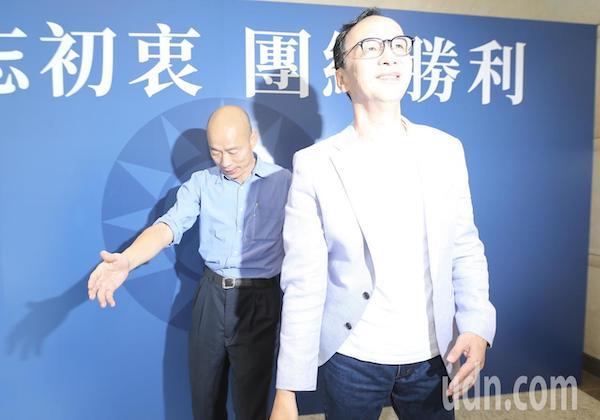 國民黨民調出爐,韓國瑜立訪朱立倫。 圖片來源:聯合新聞網