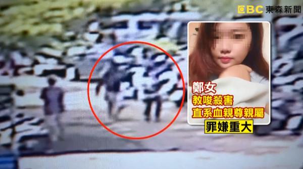 19歲女教唆男友殺死親生母親。 圖片來源:ETToday