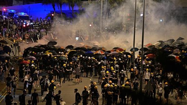 中共軍隊會進駐香港? 圖片來源:新唐人