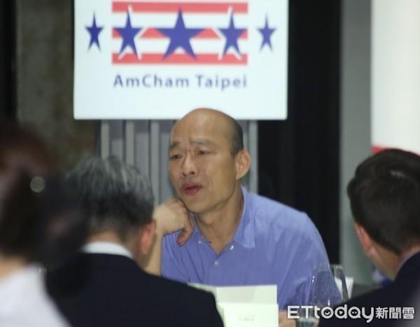韓國瑜赴美國商會演講,讓與會外商傻眼。 圖片來源:東森新聞